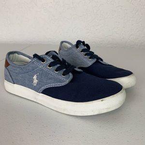 Polo Ralph Lauren denim look shoes size 1.5 boys